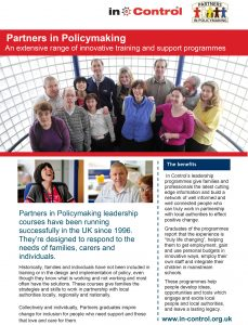 partners in policymaking course flyer